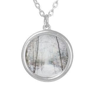 Forest Winter Wonderland Silver Plated Necklace