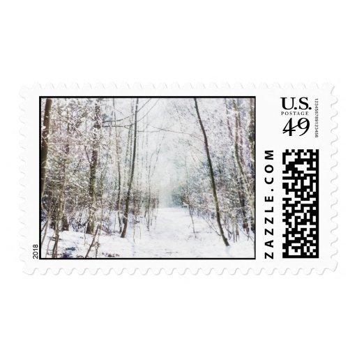 Forest Winter Wonderland Stamp