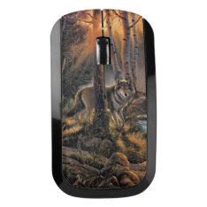 Forest Wolf Wireless Mouse at Zazzle