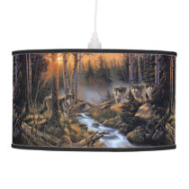 Forest Wolves Pendant Lamp