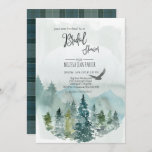 Forest Wonder Rustic Pine Bridal Shower Invitation