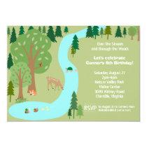 Forest Woodland Animals Nature Birthday Party Invitation