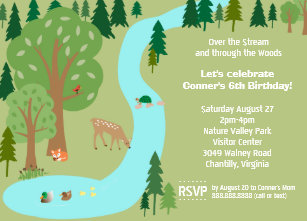 Nature birthday invitations zazzle forest woodland animals nature birthday party invitation stopboris Gallery