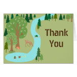 Forest Woodland Animals Nature Scene Thank You Card