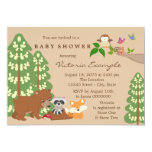 Forest Woodland Baby Shower 5x7 Paper Invitation Card