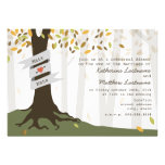 Forest / Woodland Fall Autumn Rehearsal Dinner Personalized Announcements