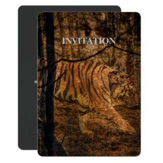 Forest Woodland wildlife Majestic Wild Tiger Card