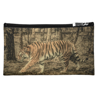 Forest Woodland wildlife Majestic Wild Tiger Makeup Bag