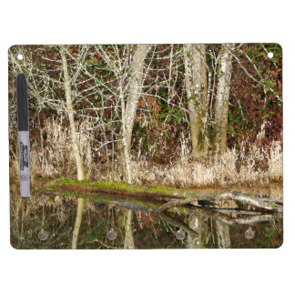 Forest Woods Leaves Trees Hiking Scenic Oregon Dry Erase Board With Keychain Holder