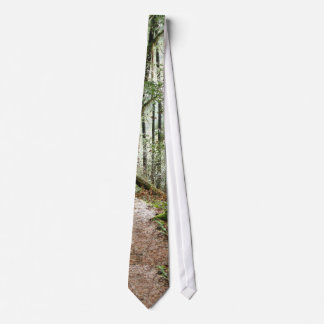 Forest Woods Leaves Trees Hiking Scenic Oregon Neck Tie