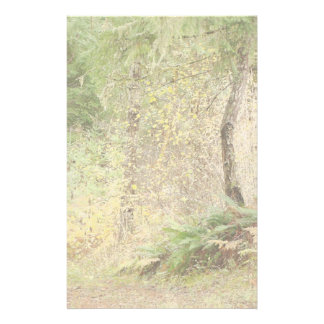 Forest Woods Leaves Trees Hiking Scenic Oregon Stationery