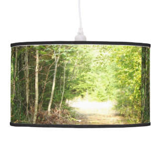 Forest Woods Meadow Ferns Oregon Trail Photography Hanging Lamp
