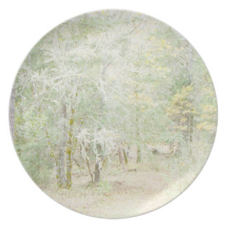 Forest Woods Meadow Ferns Oregon Trail Photography Melamine Plate