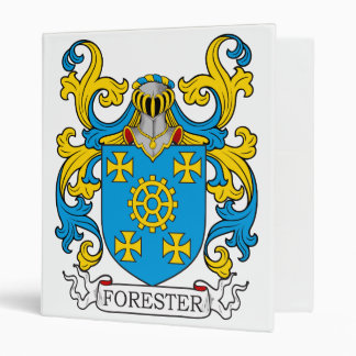 Forester Family Crest 3 Ring Binders