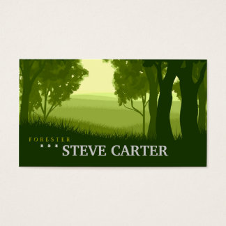 Forester Green Forest Tree Nature Plant Farmer Business Card