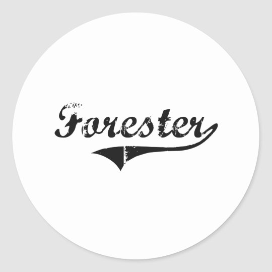Forester Professional Job Classic Round Sticker