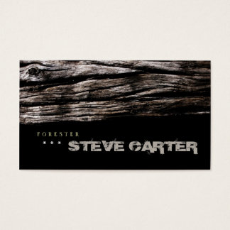 Forester Wood Forest Tree Nature Business Card