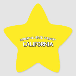 Foresthill-Back Country California Star Sticker