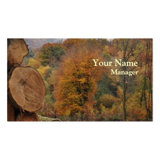 Forestry autumn business card