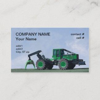 forestry skidder business card