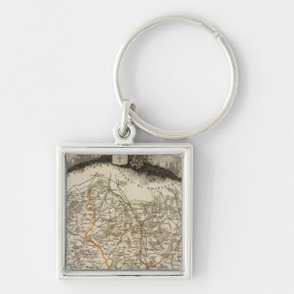Forests and city boundaries keychain