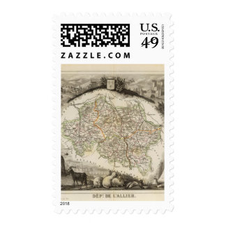 Forests and city boundaries postage stamp