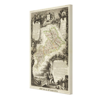 Forests, cities, towns canvas print