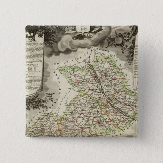 Forests, cities, towns pinback button