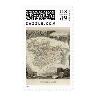 Forests shown by stippling District Postage Stamp