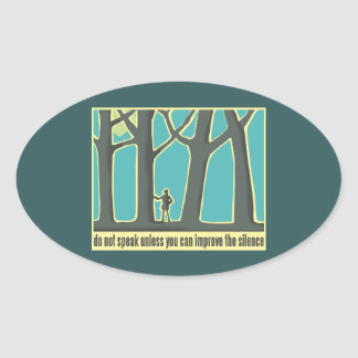 Forests, Trees, Trekking Oval Sticker