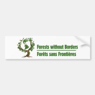 Forests without Borders - Forêts sans frontières Bumper Sticker