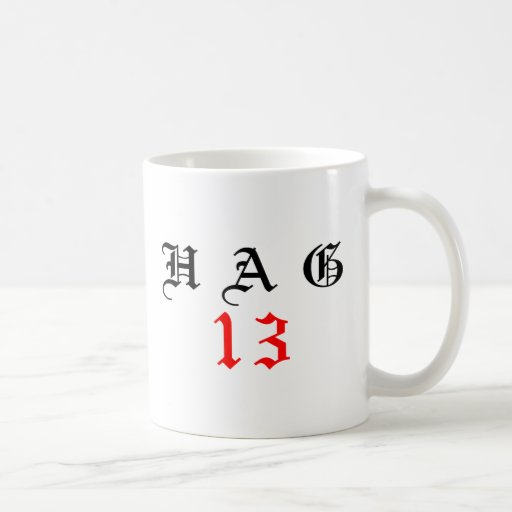 Forever 13 classic white coffee mug