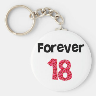 Forever 18 key chain