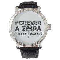 Forever a Zebra EDS Awareness Wrist Watch