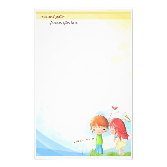 forever after love stationary stationery