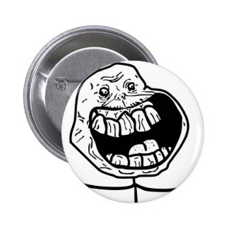 forever alone face 2 inch round button