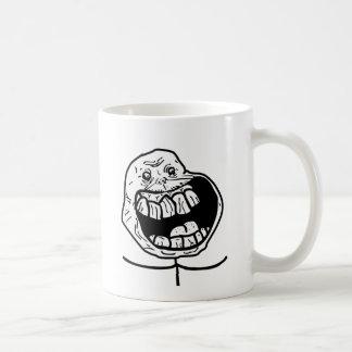 forever alone face classic white coffee mug