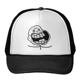forever alone face trucker hats