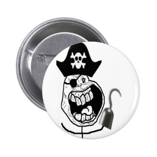 Forever Alone Pirate Comic Face Button