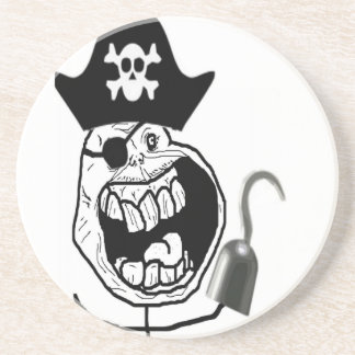 Forever Alone Pirate Comic Face Drink Coasters