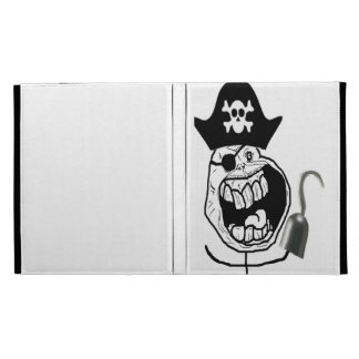 Forever Alone Pirate Comic Face iPad Cases