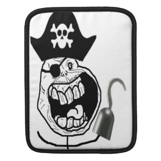 Forever Alone Pirate Comic Face iPad Sleeves