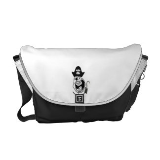 Forever Alone Pirate Comic Face Messenger Bag