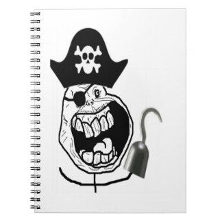 Forever Alone Pirate Comic Face Spiral Note Book