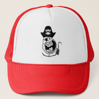Forever Alone Pirate Comic Face Trucker Hat