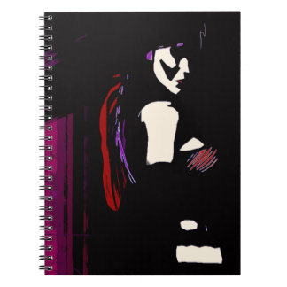 Forever Alone Vampire Modern Art Spiral Notebook