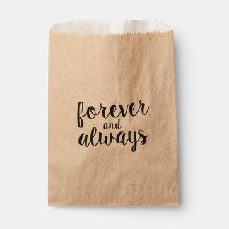 Forever & Always Favor Bags   WEDDINGS