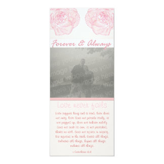 Forever & Always Rose Scripture Photo Wedding Personalized Invitations