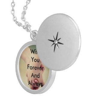 Forever always round locket necklace