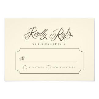 Forever & Always Vintage RSVP Cards Invitation